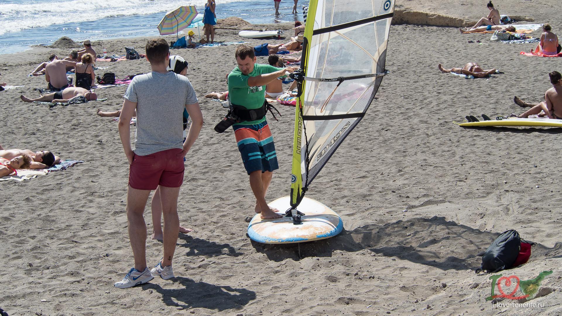 Теория и навыки работы с парусом на берегу