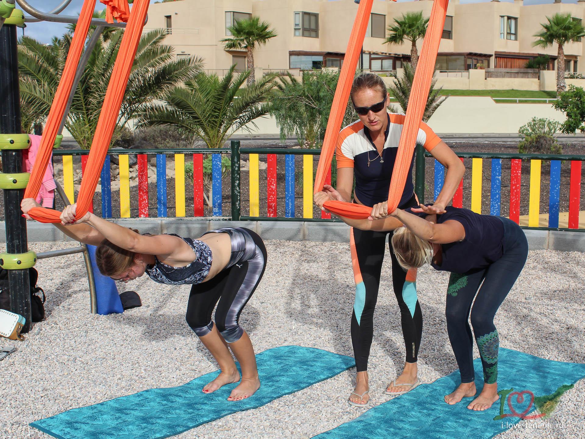 Антигравити йога на Тенерифе